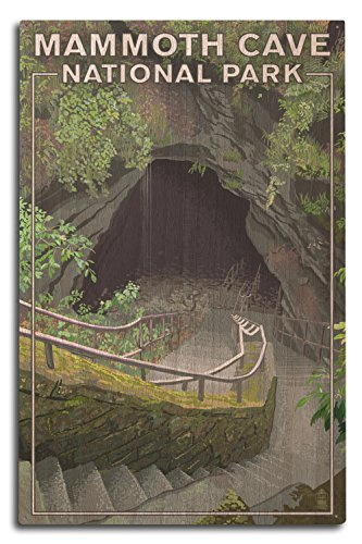 State Park Entrance - Lantern Press Mammoth Cave, Kentucky - Entrance (10x15 Wood Wall Sign, Wall Decor Ready to Hang)