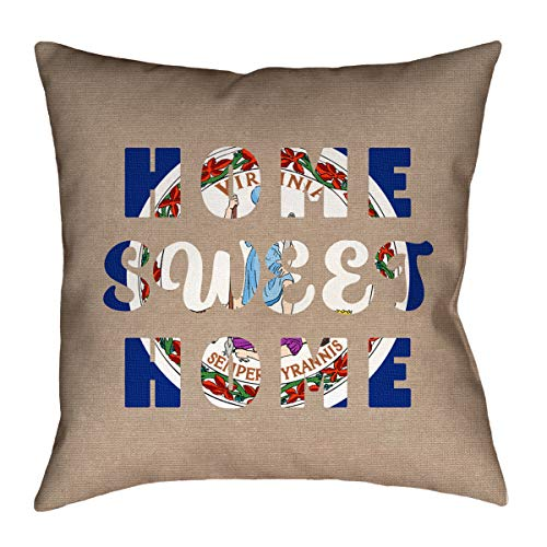ArtVerse Katelyn Smith 20 x 20 Cotton Twill Double Sided Print with Concealed Zipper /& Insert Virginia Canvas Pillow