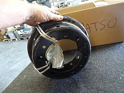 Lot of 2 Komatsu 34A-27-00020 Wheels 5.00x10 Rim w/Lug Nuts