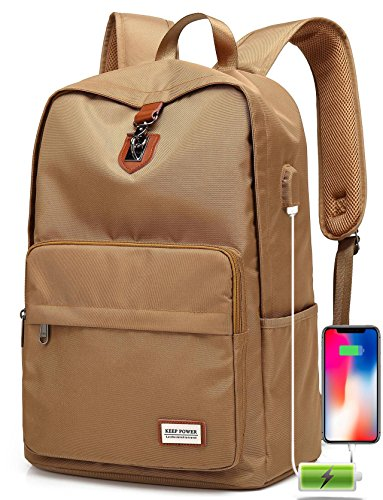 Travel laptop backpack, Business Anti theft backpack with USB charging Port for Women Men, 1000D High Density Nylon Oxford, Waterproof School Backpack for College Fits Under 15.6