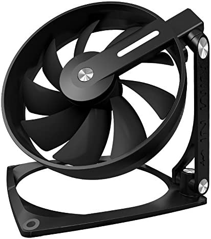 InWin Mars Black 120mm Fan Aluminum 360 Degree Rotate Three Hinge Transformer Design Premium Quality Silent Computer Case Fan Cooling