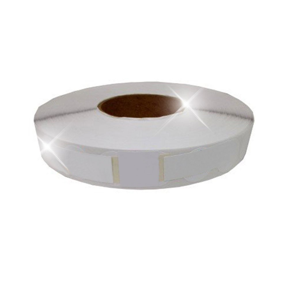 White 1.5'' Wafer Tab Seals (No Perf) USPS Approved! (5 Rolls)