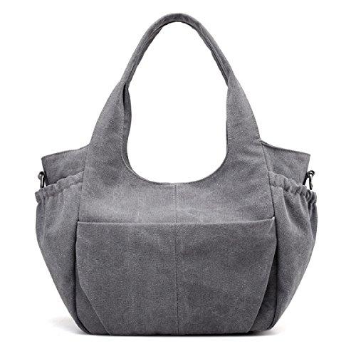 Frauen Vintage-Leinwand Messenger Ipad Schulter Handtasche Sling Reisen Tasche ,A-OneSize