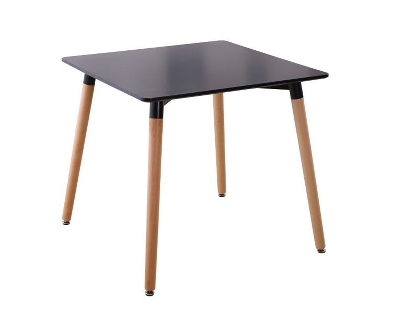 "Creation Yusheng Square Dining Table, living room table with Wooden Legs, Black - Length*Width*Height= 31.4"" x 31.4"" x 28.75"" Smooth MDF (Thickness:0.71"") top create an artistic dining table with the screws are made of strength steel. Superior strength and durability X' bearing structure ensure stable and sturdy. MDF top that makes clean-up simple and quick . - kitchen-dining-room-furniture, kitchen-dining-room, kitchen-dining-room-tables - 51HCBCKYWML -"