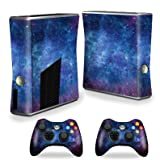 Mightyskins Protective Vinyl Skin Decal Cover for Xbox 360 S Slim + 2 controllers wrap sticker skins Nebula