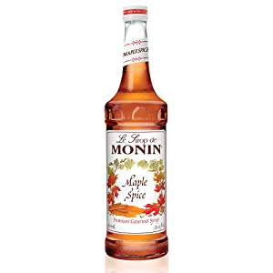 Monin - Maple Spice Syrup, Hints of Gingerbread and Cinnamon, Natural Flavors, Great for Cocktails, Lattes, Mochas, and Iced Coffees, Vegan, Non-GMO, Gluten-Free (750 ml)