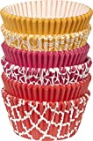 red and pink cupcake liners - Wilton 415-2871 150 Count Orange, Pink and Red Baking Cups Value Pack, Assorted