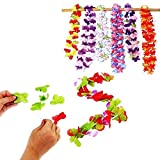 Toy Cubby Party Hawaiian Flower Leis Necklace and Bracelet Make Your own Craft Set - 12 Pack