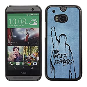 LECELL -- Funda protectora / Cubierta / Piel For HTC One M8 -- Battle Of Los Angeles --