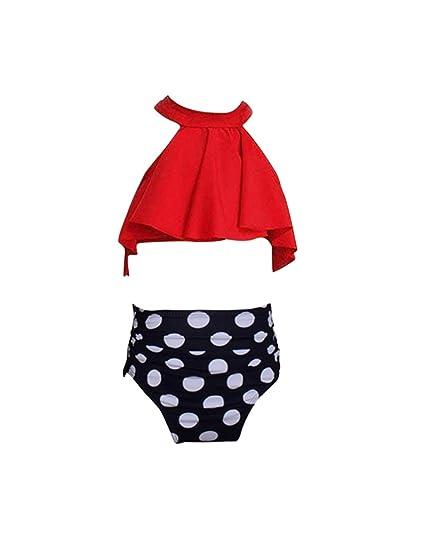 besbomig Verano Niña Dos Pieces Bañador Swimwear Conjunto de Bikini Traje de Baño Bikini Set para Niña Bebé 2 años -8 años