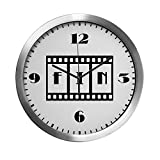 Modern Wall Clock FIN: Old Hollywood Movie Ending