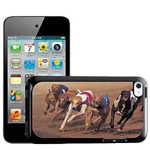Fancy A Snuggle - Carcasa rígida para Apple iPod Touch 4G, diseño de galgos corriendo