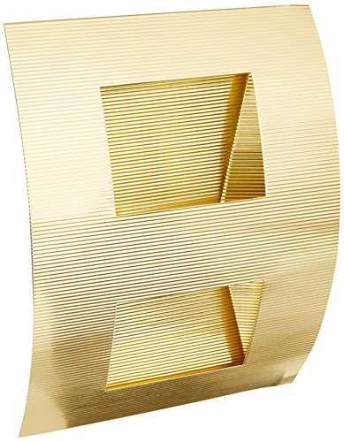 Brass Square Sconce - Lite Source LS-1321PBS Zaya Curved Wall Lamp, Polished Brass 2-Square Hole Design
