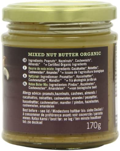 Biona Mixed Organic Nut Butter 170 g (Pack of 3): Amazon.es ...