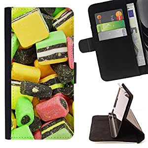 DEVIL CASE - FOR Apple Iphone 5C - Design Candy Macro - Style PU Leather Case Wallet Flip Stand Flap Closure Cover