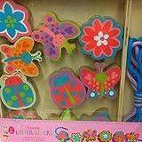 wooden lacing blocks - Flowers & butterflies