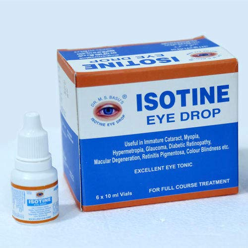 (Pack of 6) ISOTINE Eye Drops 10ml Each New