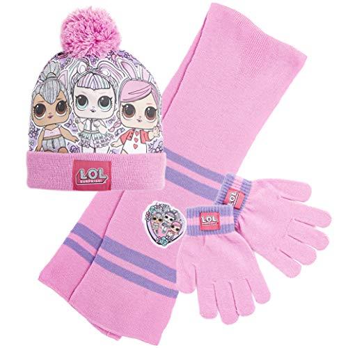 L.O.L. Surprise! Conjunto de Bufanda y Guantes Niña Con Gorro LOL Dolls, Gorros de Punto Para Niños Muñecas Lol Kitty…