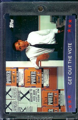(2008/09 Topps Barack Obama Presidential Trading Card #19 - Very attractive trading card of President Obama)