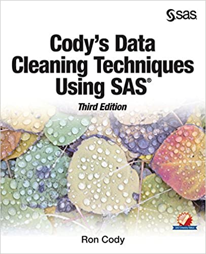 Book Cody's Data Cleaning Techniques Using SAS, Third Edition
