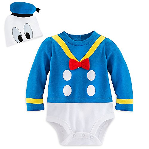 Disney Store Deluxe Donald Duck Halloween Costume Bodysuit Size 12-18 -