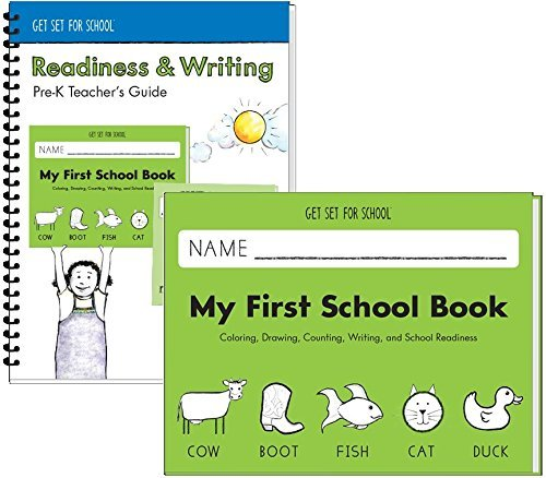 Handwriting Without Tears - Get Set For School - My First School Book - Pre-K Activity Book with teacher's ()
