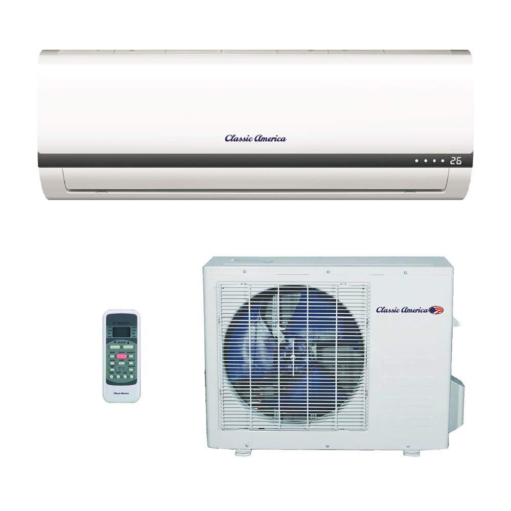 Amazon.com: Classic America Ductless Wall Mount Mini Split Inverter Air  Conditioner with Heat Pump, 12,000 BTU (1 Ton), 16 SEER 110-120 VAC, Full  Set: Home ...