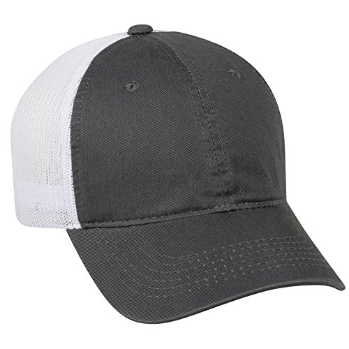 outdoor-cap-garment-washed-meshback-cap-charcoal-white-one-size