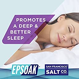 Epsoak Sleep Formula Epsom Salt 3 pack - Sleep Well & Relax, Lavender Infused Epsom Salt, Qty 3 x 2lbs bags