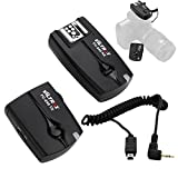 Yosoo- Flash Trigger Set, Wireless Hot Shoe Flash Transmitter+ Receiver Sync Cord Set for Canon Nikon Camera Accessory (N3)