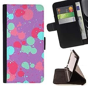 "For LG G4 Stylus / G Stylo / LS770 H635 H630D H631 MS631 H635 H540 H630D H542 ,S-type Patrón pintura trullo Rosa Púrpura"" - Dibujo PU billetera de cuero Funda Case Caso de la piel de la bolsa protectora"
