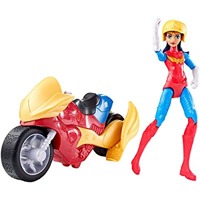 DC Super Hero Girls Wonder Woman Action Figure with Motorcycle: Toys & Games