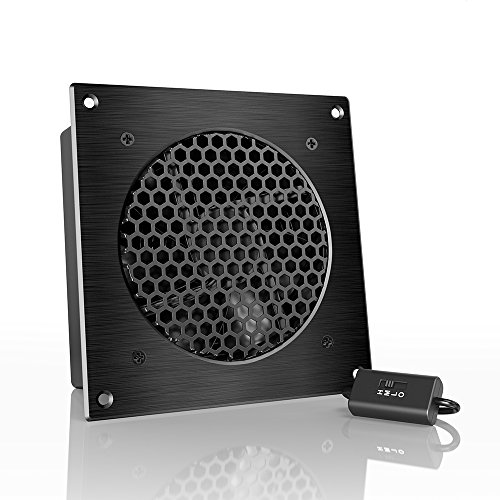 """AC Infinity AIRPLATE S3, Quiet Cooling Fan System 6"""" with Speed Control, for Home Theater AV CabinetsfromAC Infinity"""