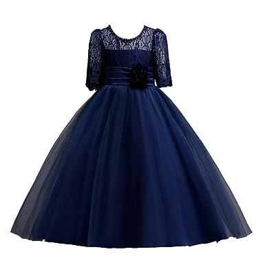 Goodlock children Kids Fashion Dress Girls Lace Princess Bridesmaid Pageant  Tutu Tulle Gown Party Wedding Dress