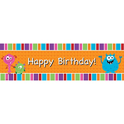 Aliens and Monsters Party Supplies - Vinyl Birthday Banner 18