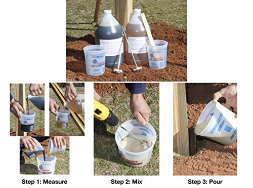 Secure Set - 20 Post Kit. Fast, Secure & Safe Concrete Alternative for Easy Fence Post Installation. Industrial Strength - Size: 4 Gallon by Secure Set (Image #4)