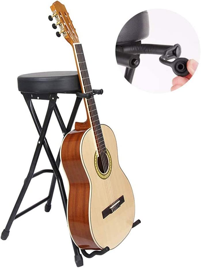 Hiyougen Taburete y Soporte de Guitarra Taburete Plegable para ...