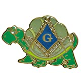 (US) Are You a Turtle With Masonic Symbol One Inch Lapel Pin