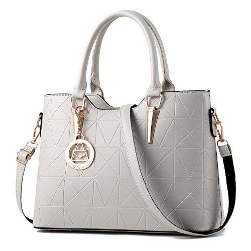 Handbag for Women Triangle Cone Casual Tote Bag Shoulder Bag Hardware Pendant Girls Crossbody Bag,Beige