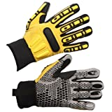IMPACTO WGRIGGL Dryrigger Oil and Water Resistant Glove, Yellow/Black