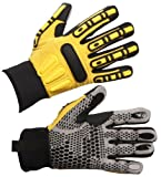 Impacto WGRIGGXXXL Dryrigger Oil and Water Resistant Glove, Yellow/Black