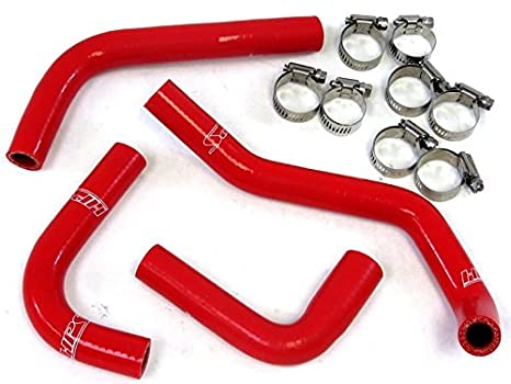 Red 57-1221H-RED HPS Silicone Heater Hose Kit for Jeep Wrangler TJ