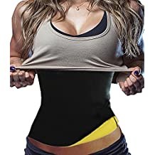 Womens Slimming Sweat Belt Hot Neoprene Shirt Body Shapers for Weight Loss