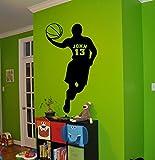 Basketball Personalized Decal Name Customized Name Sticker Boys Room Nursery Idea Kids Decor Wall Decal Art Vinyl Sticker Tr300