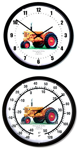 "New 1948 - 1952 Minneapolis Moline Model U Tractor 10"" Round Clock & Thermometer Set"