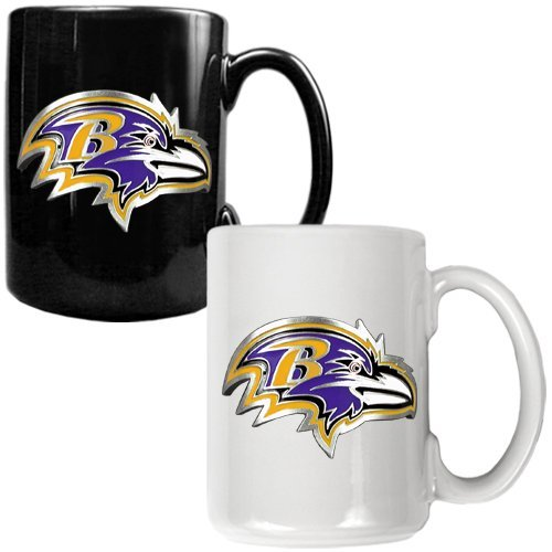 NFL Baltimore Ravens Two Piece Ceramic Mug Set - Primary Logo