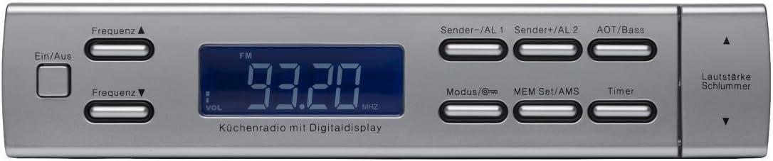 MEDION LIFE MD 82476 Unterbauradio UKW Radio,30 Senderspeicher,Koch-Timer,schwar