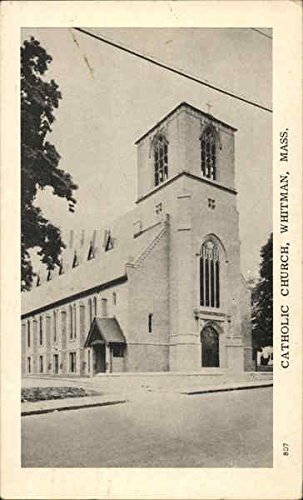 Catholic Church Whitman, Massachusetts Original Vintage Postcard - Massachusetts Vintage Postcard