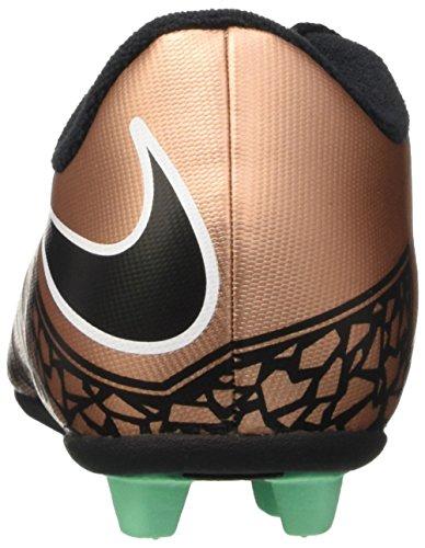 Nike JR Hypervenom Phade II FG-R, Botas de Fútbol para Niños Marrón / Negro / Blanco (Mtlc Rd Brnz / Blk-Grn Glw-White-)