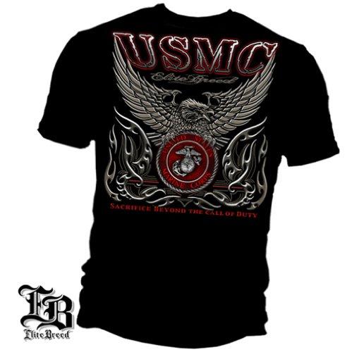 Marine Corps, USMC T-Shirt Elite Breed USMC Marine Corps Black